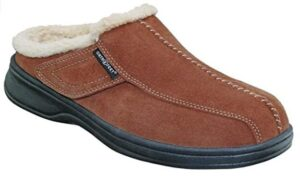 warm leather mens slippers for flat feet