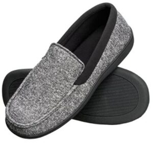 gray wool slippers for mens