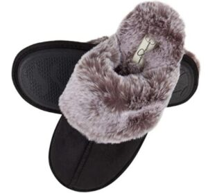 warm slippers for wide feet