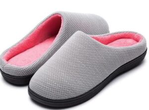 women cushioned slippers for indoors