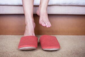 warm slippers for hot sweaty feet