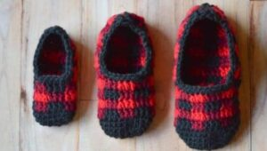 crocheting slipper boots for grandpa