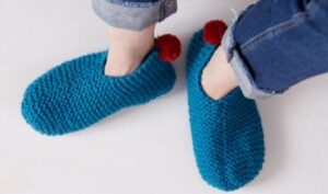 how do you knit slippers