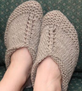how to knit grandma slippers