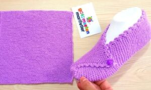 how to knit phentex slippers