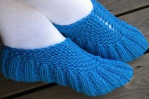 how to knit mens slippers