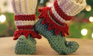 slipper socks with elf design