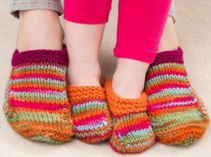 how to knit baby slippers