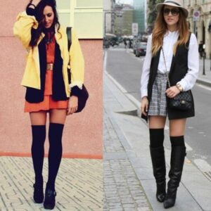 knee high shoes pairing