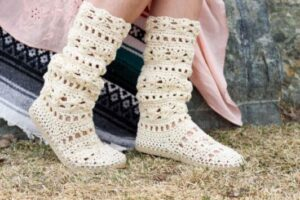cute lacy slippers