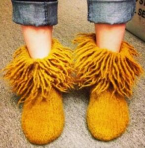 knit good looking slippers