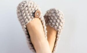women's seed stitch slippers knitting guides