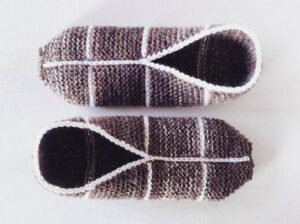 how to learn simple garter slippers knitting