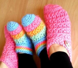 how to crochet starlight slippers