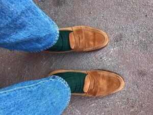 Traditionalist weekender to style loafers with socks