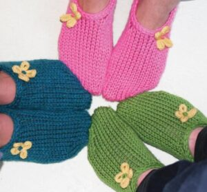 how to knit toe-up slippers for beginners