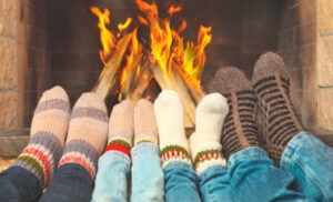 winter socks with extra thick knitted materials