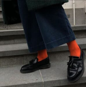 Color injection for styling loafers with socks