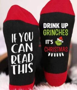non-disturbing christmas socks