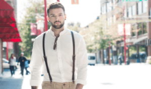 how to wear clip on suspenders