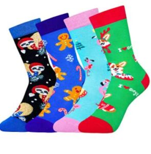 christmas socks with multiple colors