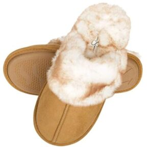 women comfortable slippers with faux fur