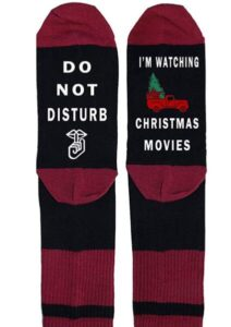 dark color christmas socks