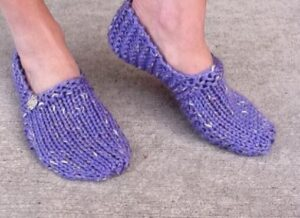 lilac slippers knitting