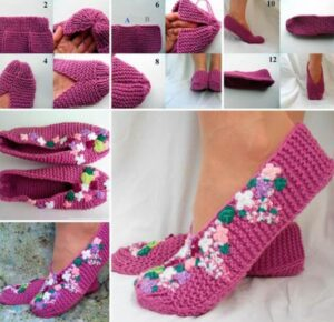 knit slippers for old persons