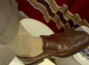 Eclectic combination for styling loafers with socks
