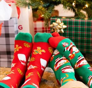 christmas socks for man and woman