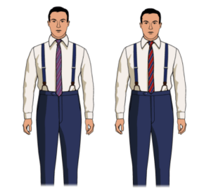 button suspenders with belt