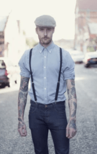 how to wear suspenders for hanging out