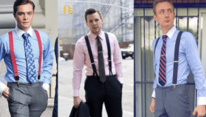 how to wear suspenders with tie