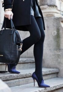 how to wear tights and leggings with high heels