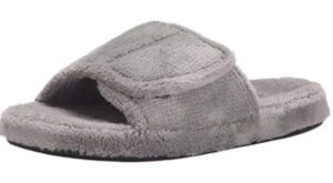 mens adjustable slippers for wide feet