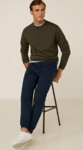wear joggers with sweater