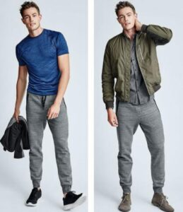 grey jogger in style