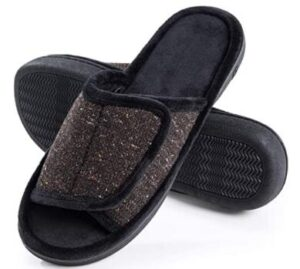 open toe slippers with anti-skid design