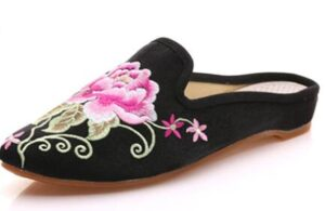 women slippers with embroidered patterns