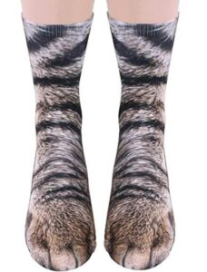 mens socks with paw pattern
