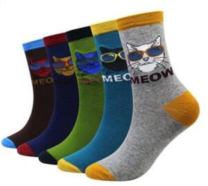 ankle height cat socks for men