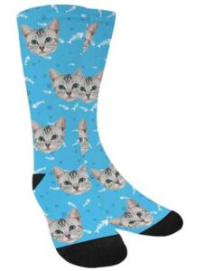 light color cat socks for men