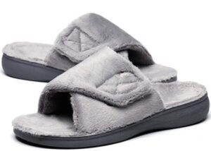 womens wide slippers with arch support